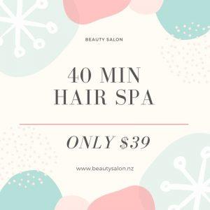Hair spa deal Auckland